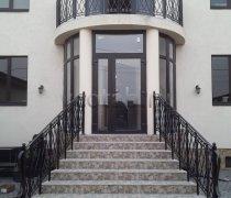 Перила арт.0079 ограждение лестничное/балконное кованое