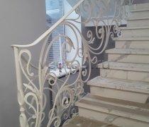 Перила арт.0077 ограждение лестничное/балконное кованое