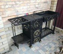 Купить мангал #0137 кованый с печкой под 8-22 литров/казан и трубой