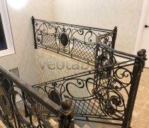 Перила арт.0085 ограждение лестничное/балконное кованое