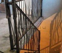 Перила арт.0081 ограждение лестничное/балконное кованое