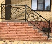 Перила арт.0021 ограждение лестничное/балконное кованое