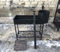 Купить мангал #0154 с полкой и печкой под 12 литров/казан и трубой