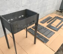 Купить мангал #0028-4мм. разборный (высокий), лазерная резка