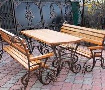 Столы ( Садовые и кованые ) # 00013 Комплект Стол + Скамья 2шт.