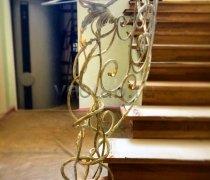 Перила арт.0012 ограждение лестничное/балконное кованое
