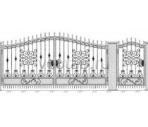 Ворота кованые #082