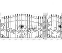 Ворота кованые #083