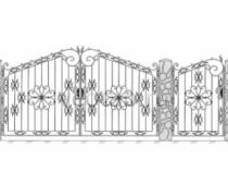 Ворота кованые #084