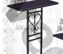 """Стол металлический серии #039 - №39 и №40 """"Сердце"""""""