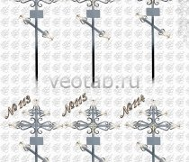 Крест металлический серии #110 (№110-115)