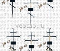 Крест металлический серии #040 (№40-45)