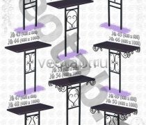 Стол металлический серии #051 - №51 и №52