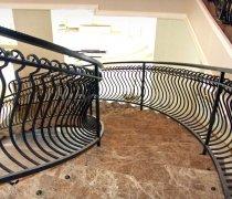 Перила арт.0043 ограждение лестничное/балконное кованое