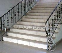 Перила арт.0044 ограждение лестничное/балконное кованое