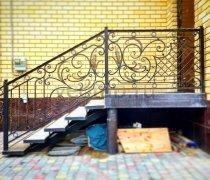 Перила арт.0014 ограждение лестничное/балконное кованое