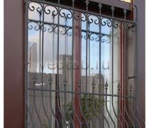 Кованные решетки на окна #55