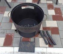 Купить печь #0802-2мм. под казан 8л. со съемной полкой под угли и съемными ногами