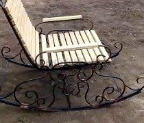 Кованые кресла-качалки #19