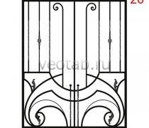 Кованные решетки на окна #36