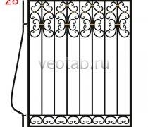 Кованные решетки на окна #38