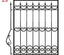 Кованные решетки на окна #39