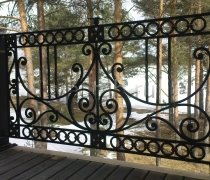 Перила арт.0039 ограждение лестничное/балконное кованое