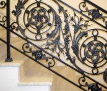 Перила арт.0027 ограждение лестничное/балконное кованое