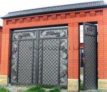 Ворота кованые #026