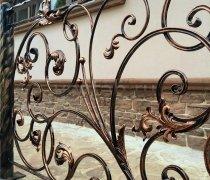 Перила арт.0010 ограждение лестничное/балконное кованое