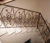 Перила арт.0031 ограждение лестничное/балконное кованое