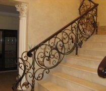 Перила арт.0032 ограждение лестничное/балконное кованое