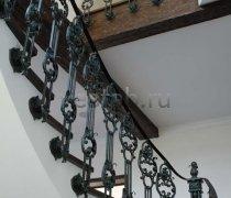 Перила арт.0036 ограждение лестничное/балконное кованое