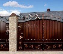 Ворота кованые #077