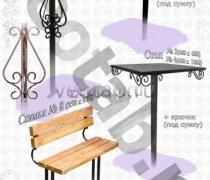 Стол металлический серии #001 - №1 и №2
