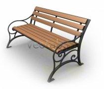 Садовая скамейка #00050