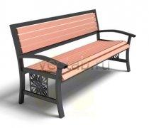 Садовая скамейка #00040