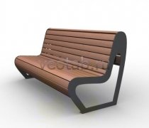 Садовая скамейка #00035