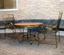Кованая мебель для дачи #37