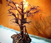 Кованый подарок #010 (подсвечник в виде дерева)