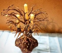 Кованый подарок - дерево подсвечник #10