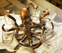 """Кованый подарок #018 """"осьминог""""- держатель стаканов"""