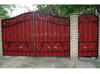 Ворота распашные #007