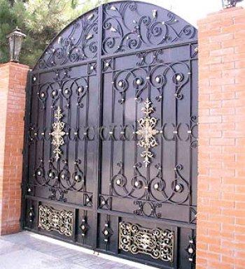 Ворота кованые #034