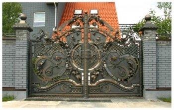 Ворота кованые #36