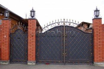 Ворота кованые #078