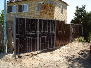 Ворота распашные #002